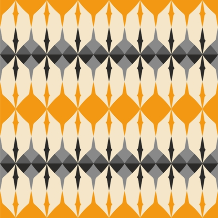orange pattern: Tile gray, black and orange pattern with geometric decoration vector background wallpaper Illustration