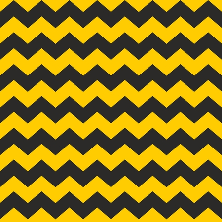 black yellow: Zig zag chevron black and yellow tile vector pattern or wallpaper background Illustration