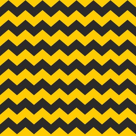 amarillo y negro: Zig zag chevron patrón de mosaico negro y amarillo vector o papel tapiz de fondo