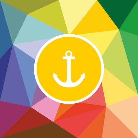 background summer: Nautical vector card or invitation with summer sailor anchor wrapping a flat surface background