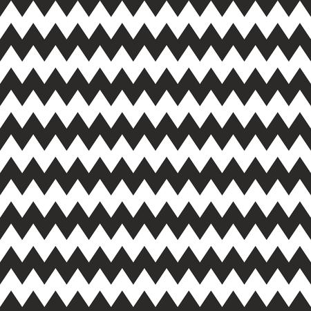 Chevron zig zag vector black and white tile pattern