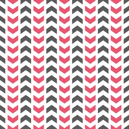 patterns vector: Tile vector pattern with pink and gray arrows on a white background Illustration