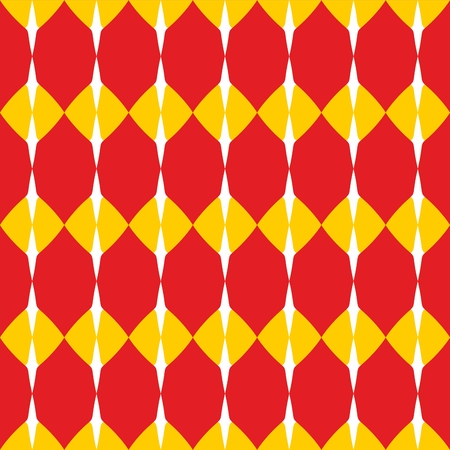 jaune rouge: Tile red, yellow and white vector pattern or website background Illustration