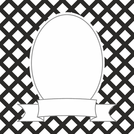 Photo vector frame on black and white background