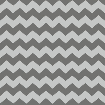 grey background: Zig zag chevron brown tile vector pattern
