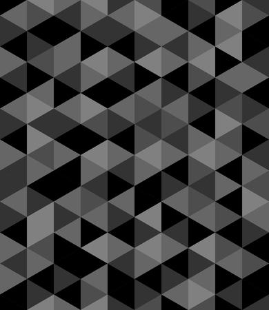 grey abstract background: Tile vector background with black and grey triangle geometric mosaic
