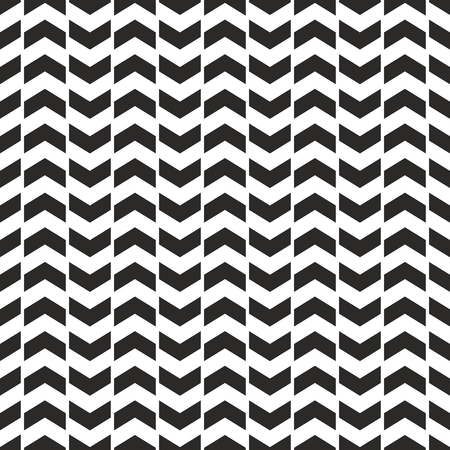 Zig zag chevron black and white tile vector pattern Illustration