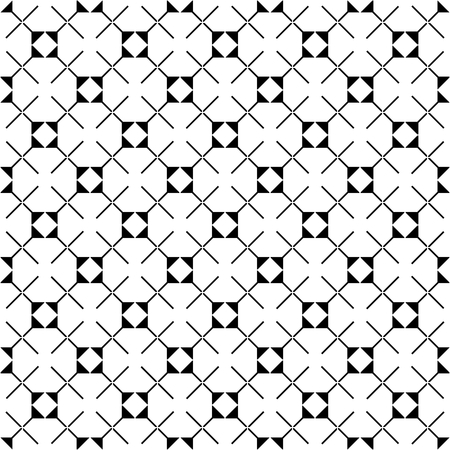 simple geometry: Tile vector pattern with black and white background wallpaper