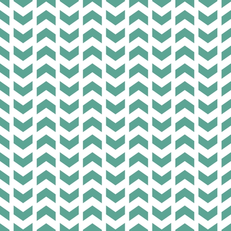 Tile vector pattern with green zig zag print on white background Illustration