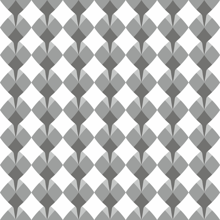 grey pattern: Tile floral vector pattern with white, grey and black decoration