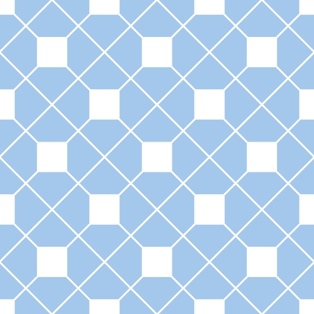 white wallpaper: Checkered tile vector pattern or blue and white wallpaper background Illustration