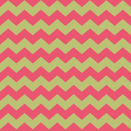 zig: Tile vector pattern with pink zig zag on green background