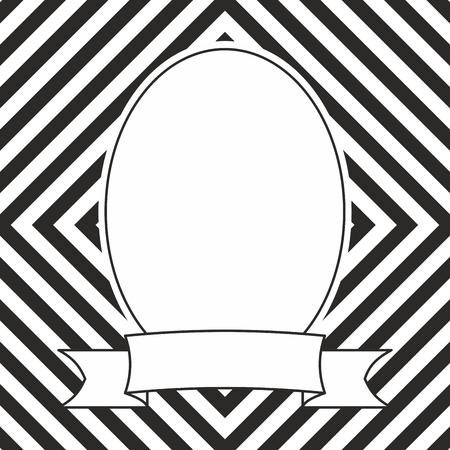 Photo frame on black and white background