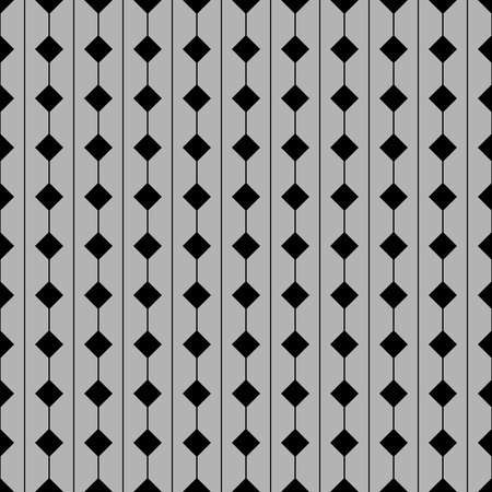 woven: Tile vector pattern with grey and black seamless background Illustration