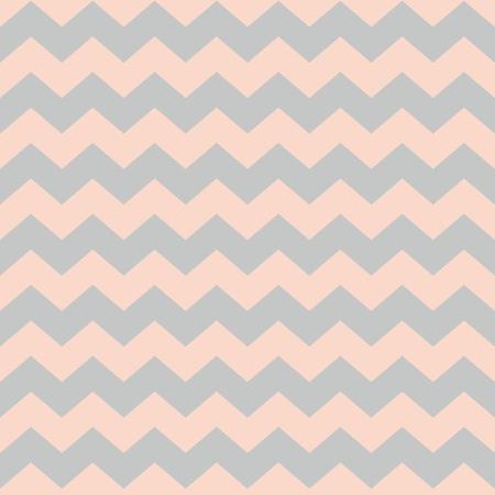 Zig zag chevron pastel pink and grey tile vector pattern Çizim