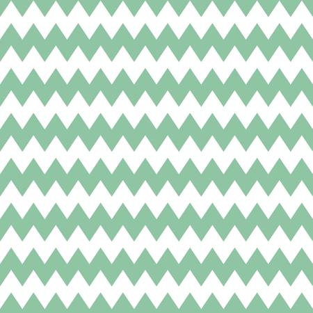 menta: Patrón de mosaico con verde menta zig zag de impresión en el fondo blanco