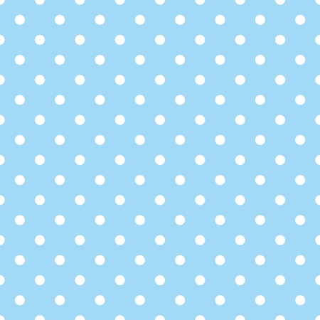 Tile vector pattern with white polka dots on dark blue background