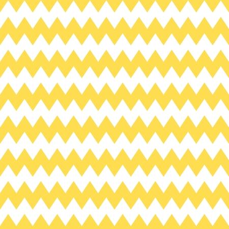 Azulejo vector patrón de chevron con zig amarillo y fondo blanco zag