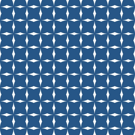 navy: Tile navy blue and white vector pattern