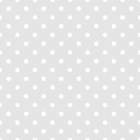 シームレスな白とグレー、パターンをベクトルまたは小さい水玉模様の背景をタイルします。デスクトップ壁紙と web サイト設計のため  イラスト・ベクター素材