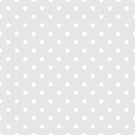 preppy: Seamless white and grey vector pattern or tile background with small polka dots. For desktop wallpaper and website design Illustration