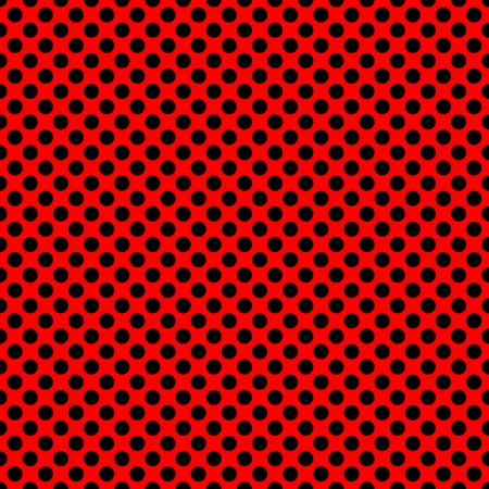 black fabric: Tile vector pattern with black polka dots on red background