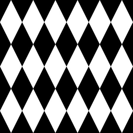 diamonds on black: Black and white tile vector pattern