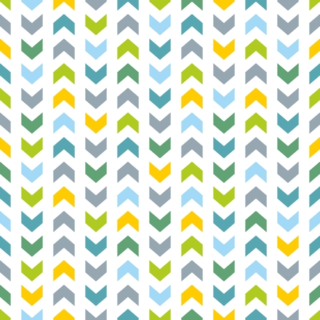 baby blue: Tile pattern with blue and mint green zig zag print on white background