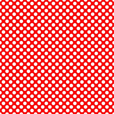 scrapbook homemade: Tile pattern with white polka dots on red background