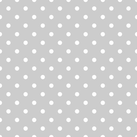 シームレスな白とグレー パターンまたはタイル背景で小さな水玉。デスクトップ壁紙と web サイト設計のため  イラスト・ベクター素材