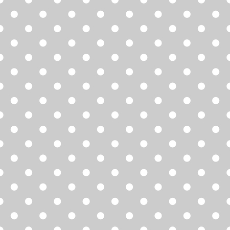 Seamless white and grey pattern or tile background with small polka dots. For desktop wallpaper and website design Vettoriali