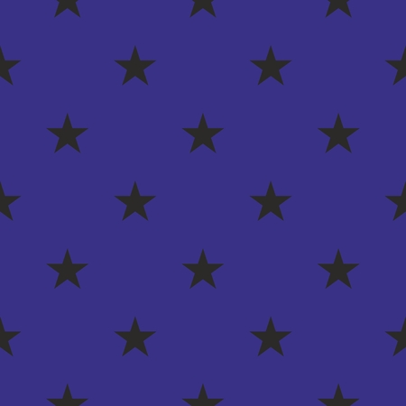 stars background: Tile pattern with black stars on dark blue background