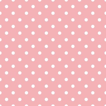 pink: Fliesenmuster mit weißen Tupfen auf Pastell rosa Hintergrund