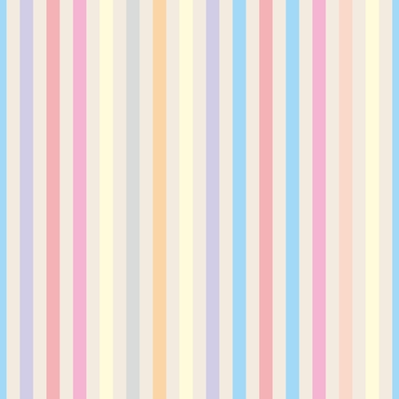 Seamless pastel stripes vector background or tile pattern illustration. Desktop wallpaper with colorful yellow, red, pink, green, blue, orange and violet stripes for kids website background Ilustracja