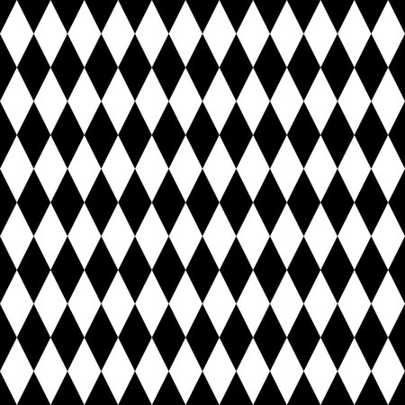 pierrot: Black and white tile vector pattern