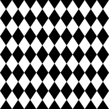 Tegel zwarte en witte achtergrond vector patroon Stock Illustratie