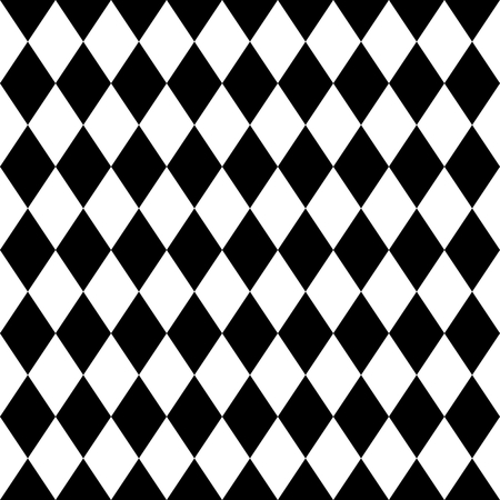 pierrot: Tile black and white background vector pattern