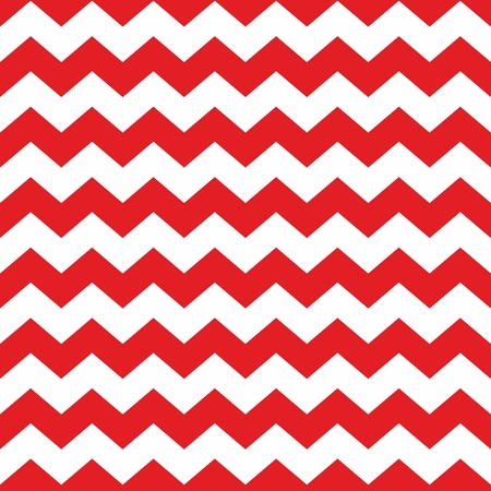 Zig zag chevron red and white tile pattern