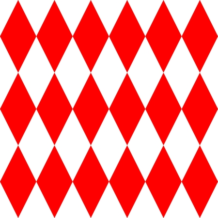 pierrot: Red and white tile vector pattern