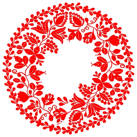 hungarian: Red wreath isolated on white background Illustration