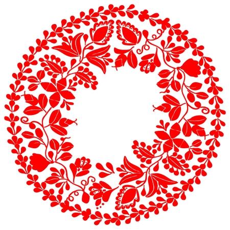 Rode krans op een witte achtergrond
