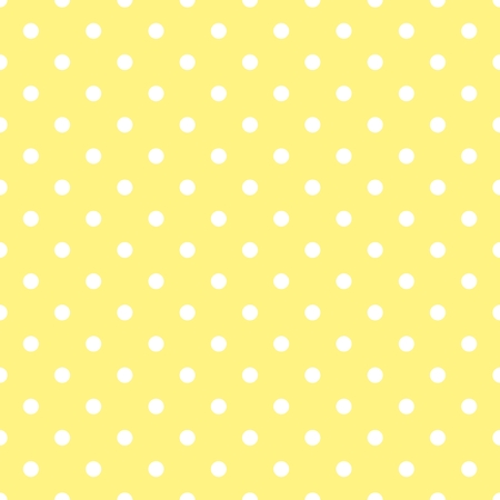 traditional pattern: Tile vector pattern with white polka dots on yellow background