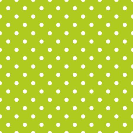 Dachówka wzór wektor z białymi kropki na zielonym tle