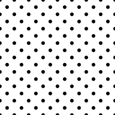 Deseń płytek wektora z czarnym kropki polka na białym tle