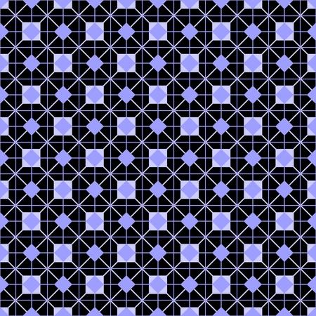 blue violet: Tile vector pattern or violet blue and black wallpaper background