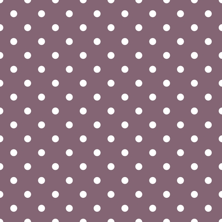 white tile: Tile vector pattern with white polka dots on dark violet background