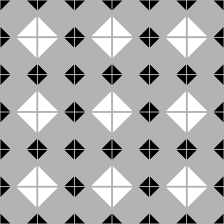 Tile pattern with grey, black and white background wallpaper Illustration