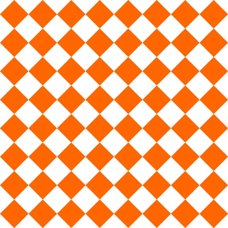 Checkered tile pattern or orange and white wallpaper background