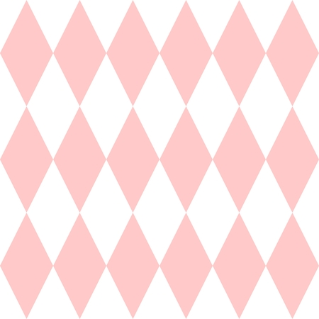 pierrot: Checkered tile vector pattern or pink and white wallpaper background