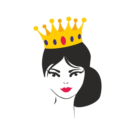Queen or princess vector illustration isolated on white background Illustration